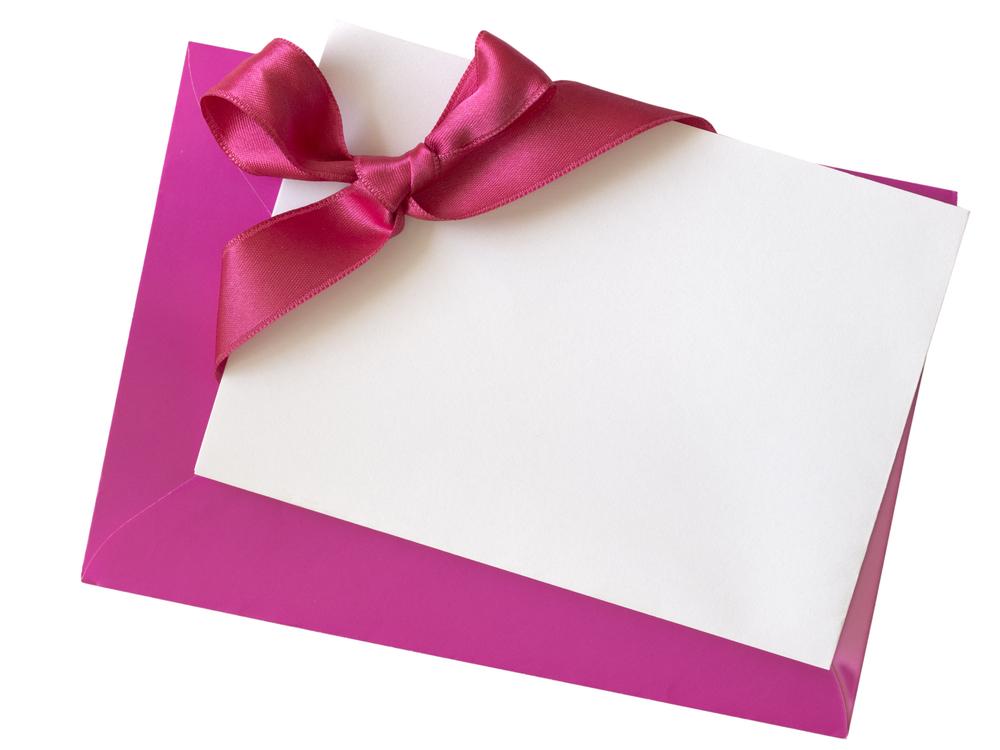 プレゼントにはメッセージカードを添えて