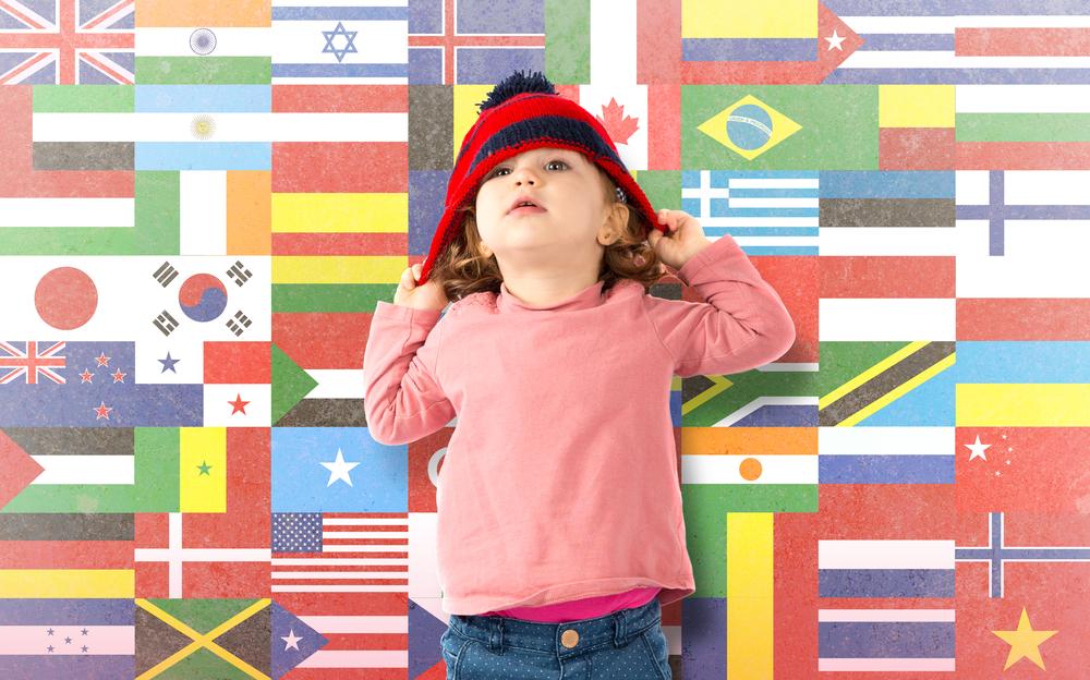 外国の文化や言語の特徴が子供の...