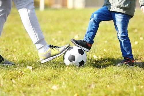 サッカーをしながら英語に触れてみよう!