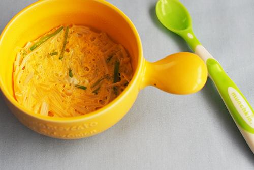 離乳食中期〜後期(7〜11カ月頃)『卵とそうめんの茶碗蒸し風』