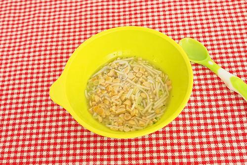離乳食後期(9〜11カ月頃)『しらすの納豆にゅうめん』