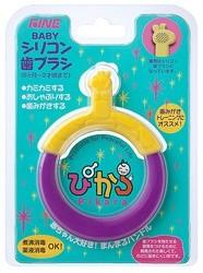 ファインBABYシリコン歯ブラシ ぴから(6ヶ月〜1歳半)