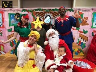 サンタクロースになってクリスマスイベントの画像