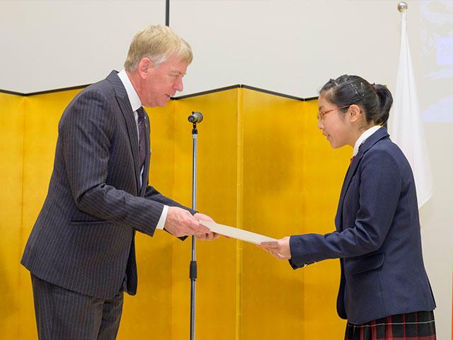ベルギー王国大使館との連携・コンテスト表彰式