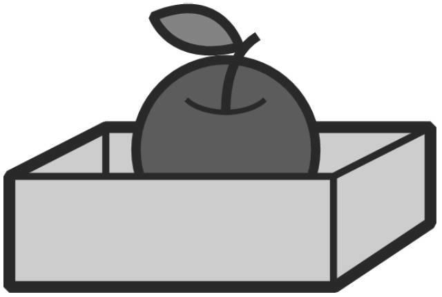 箱の中のリンゴ